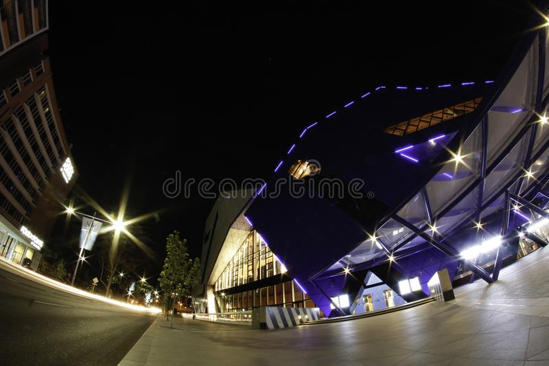 Night steert scene with nice lights in Perth Perth royalty free stock images