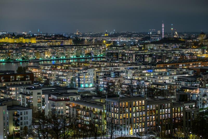 night stockholm στοκ φωτογραφίες