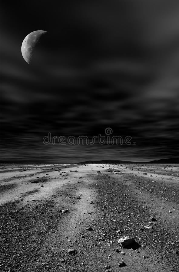 Download Night stony desert. stock photo. Image of night, drought - 20863980