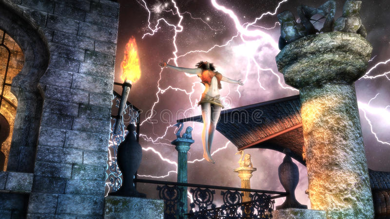 Night Of The Storm royalty free stock photo