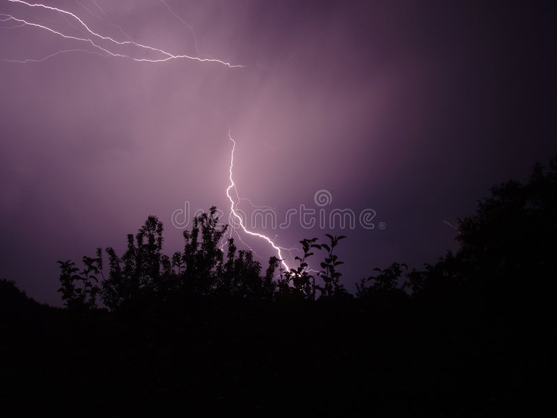 Night storm royalty free stock photography