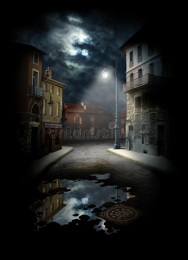 Download Night Street stock image. Image of town, light, cloud - 18246827