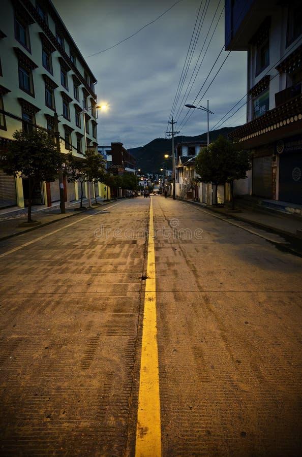 Download Night street stock photo. Image of road, moon, rails - 22516264