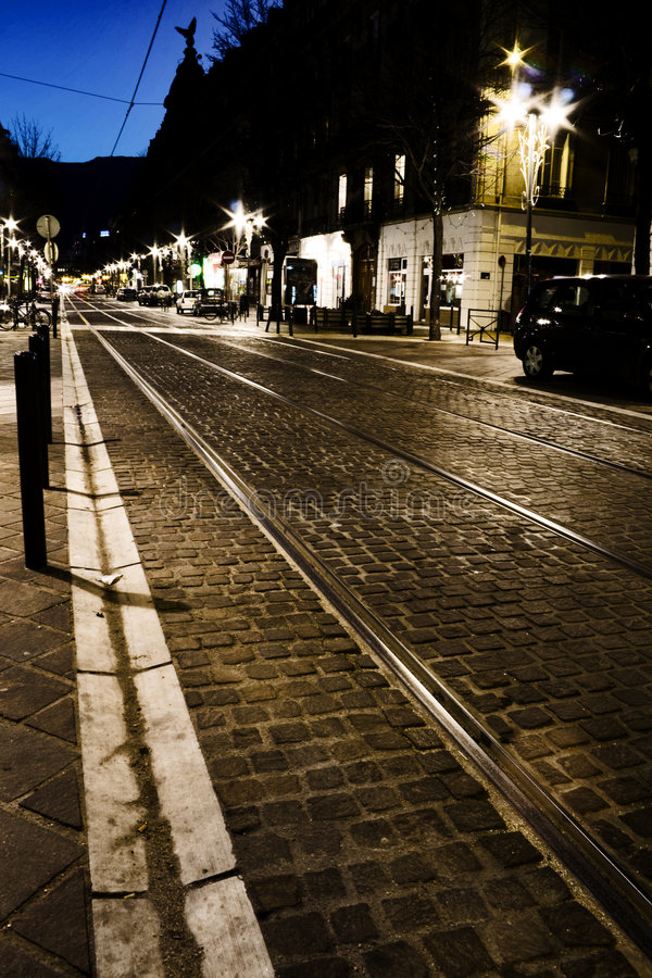 Night Street stock image