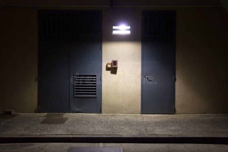 Night street scene. Night loneliness concept royalty free stock image