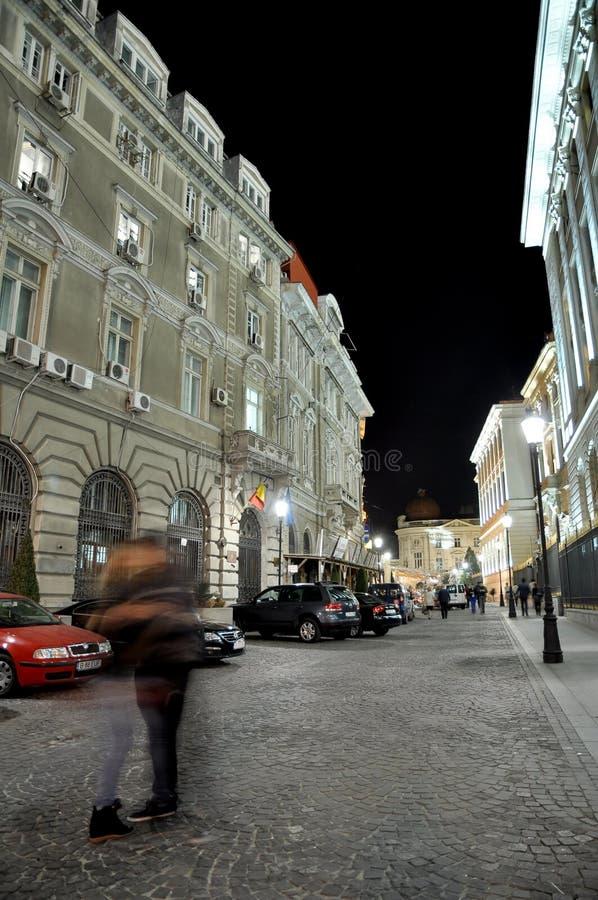 Night scene stock photo