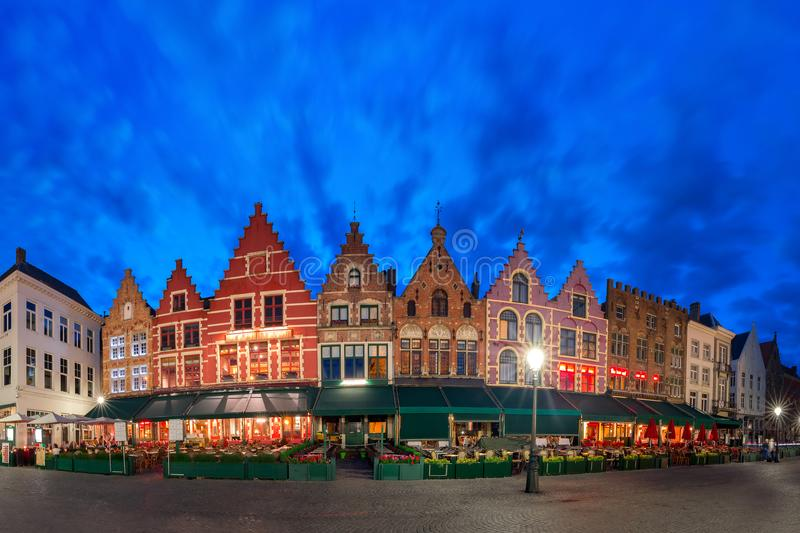 Grote Markt or Market Square in Bruges, Belgium royalty free stock photography