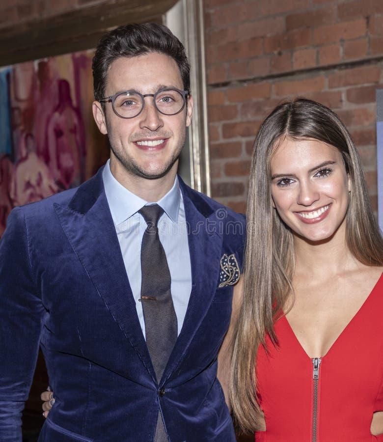 `Night sweats` screening. New York, NY, USA - November 13, 2019: Betsy Alvarez and Dr. Mike attend `Night Sweats` New York Premiere screening at Tribeca stock image