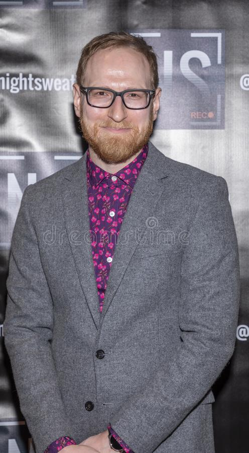 `Night sweats` screening. New York, NY, USA - November 13, 2019: Jason Abrams attends `Night Sweats` New York Premiere screening at Tribeca Screening Room stock image