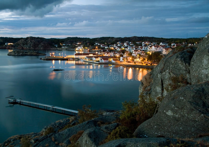 Night in Sweden royalty free stock images