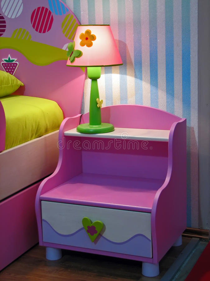 Night table. In the kids room royalty free stock image