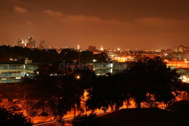 Night Tel Aviv royalty free stock photography