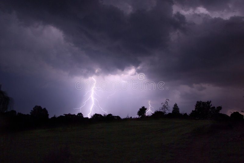 Night thunderstorm. stock images