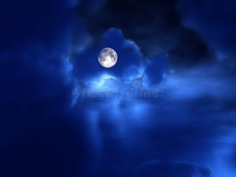 Night Time 51. An image of the moon in the cloudy background night time sky stock image