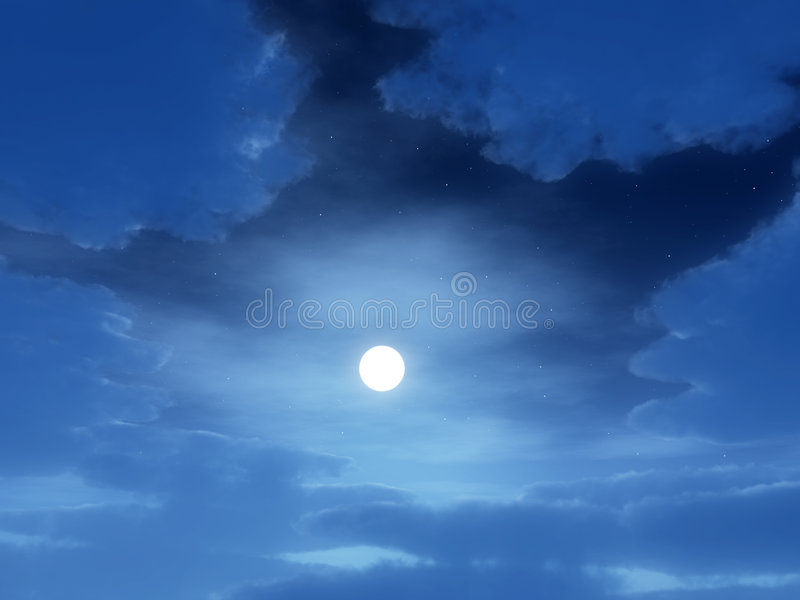 Download Night Time stock image. Image of clouds, cloud, atmosphere - 8896209