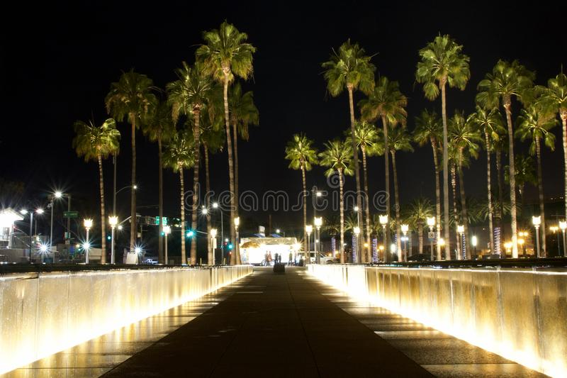 Night time So Cal Vacation stock image