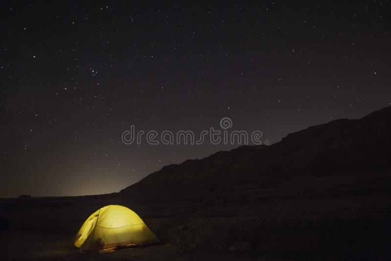 Night time camping stock photos