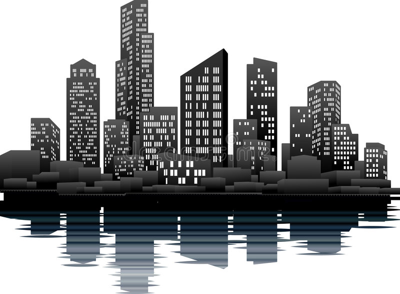 Night time city royalty free illustration