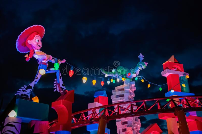 Night time image from Jessie and Rex royalty free stock photo