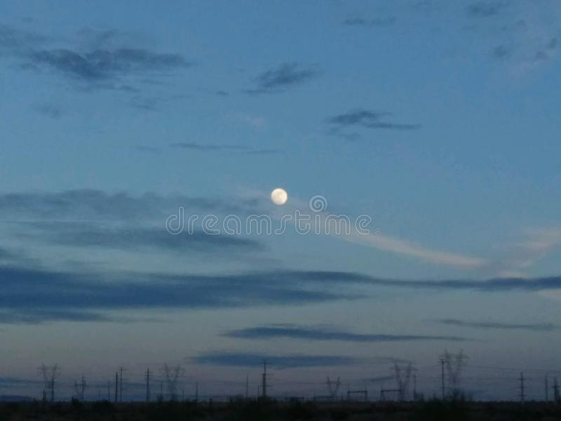 Moon still night stock image