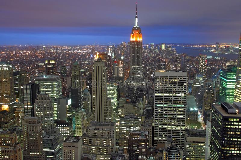 Night Time New York royalty free stock images
