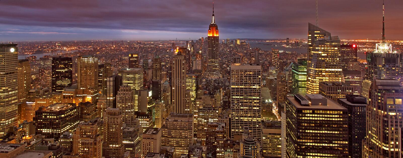 Night Time New York royalty free stock image