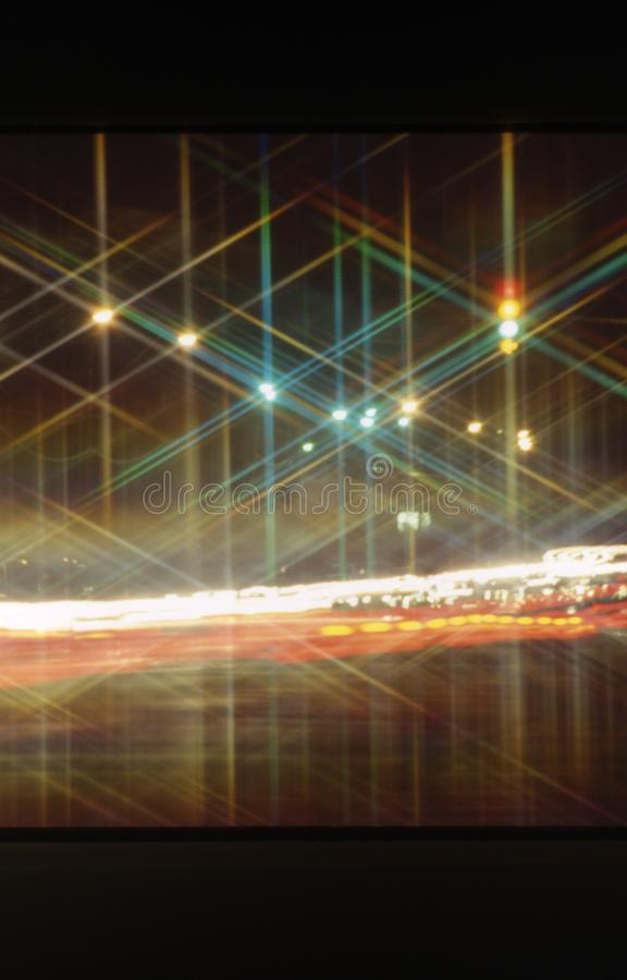 Night time traffic in Phoenix Arizona. Night time traffic car headlights and taillights streaking in Phoenix Arizona royalty free stock photography