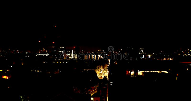 Night time view across London, UK royalty free stock images