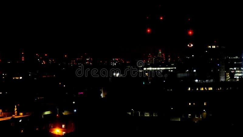 Night time view across London, UK stock photo