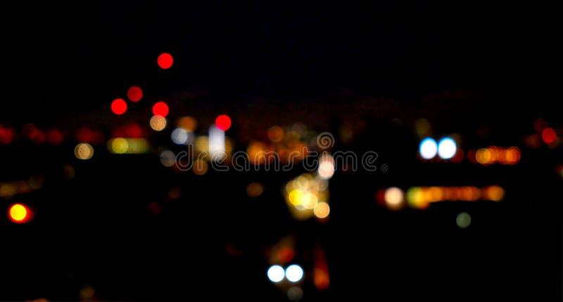 Night time view across London, UK royalty free stock image