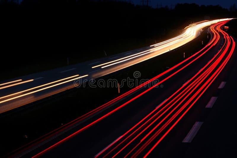 night traffic στοκ φωτογραφία