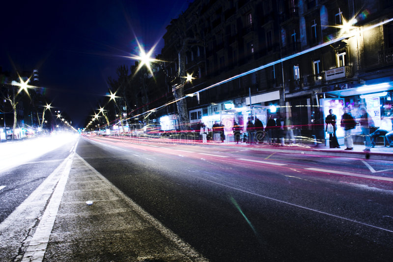 Download Night Traffic stock photo. Image of ghostly, traffic, movement - 2324522
