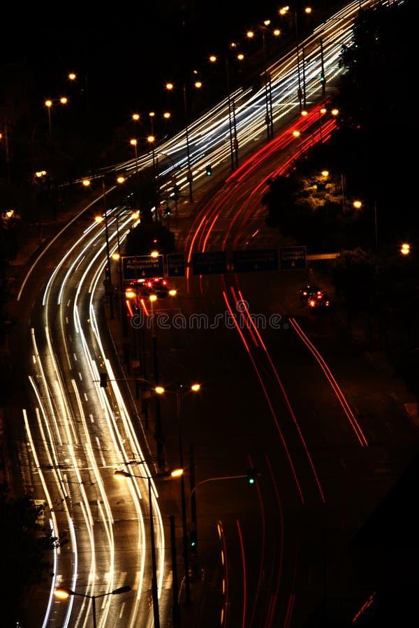 Night traffic stock images