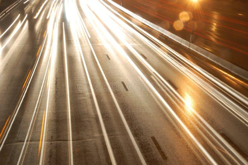 night traffic στοκ εικόνα