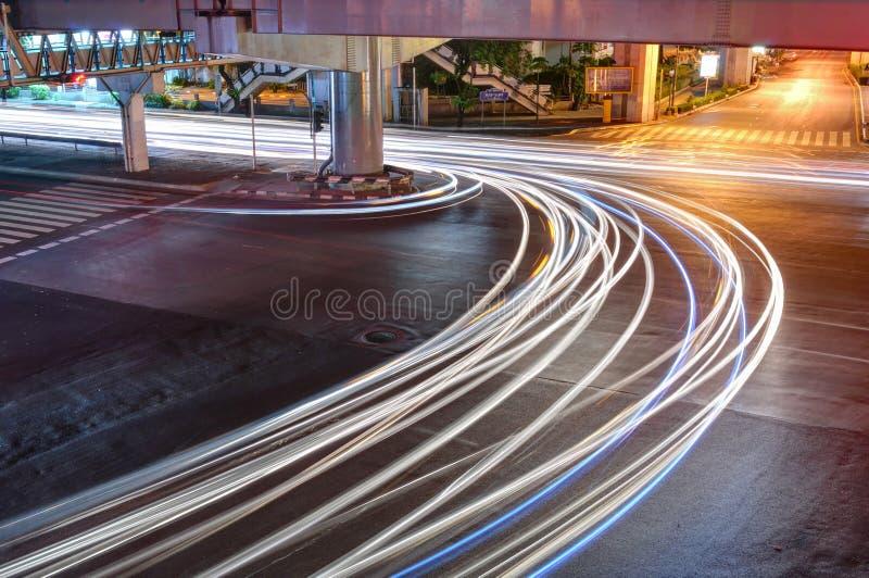 Download Night Traffic in Bangkok stock image. Image of trail - 25549689