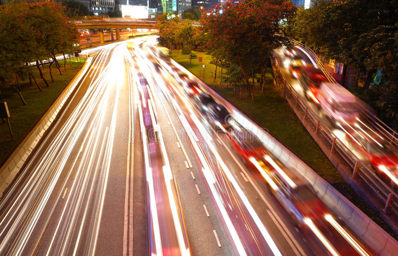 Download Night traffic in busy city stock photo. Image of nighttime - 16738580