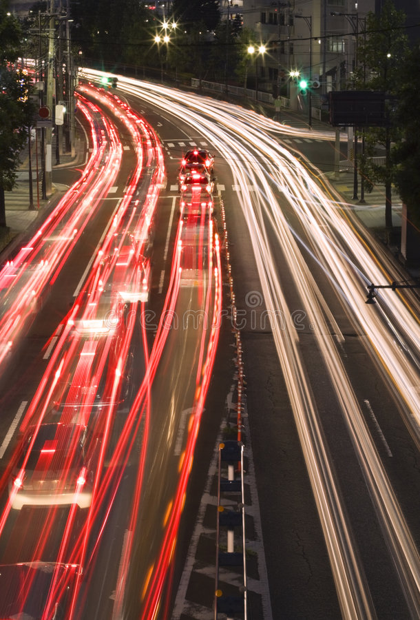 Download Night traffic in the city stock image. Image of business - 6963889