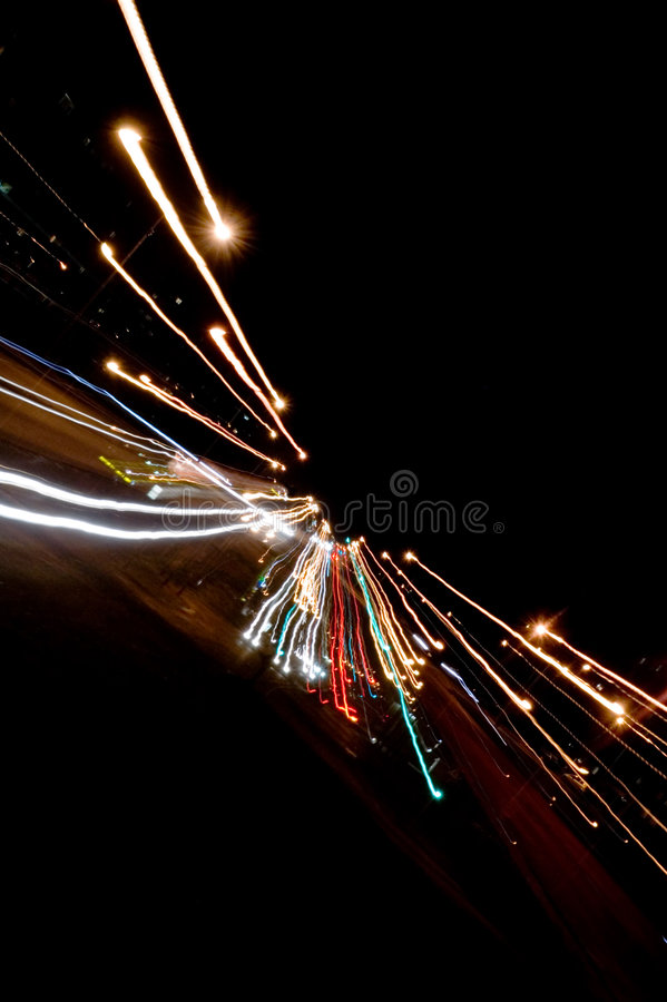 Download Night traffic lights stock photo. Image of blurred, life - 1416120