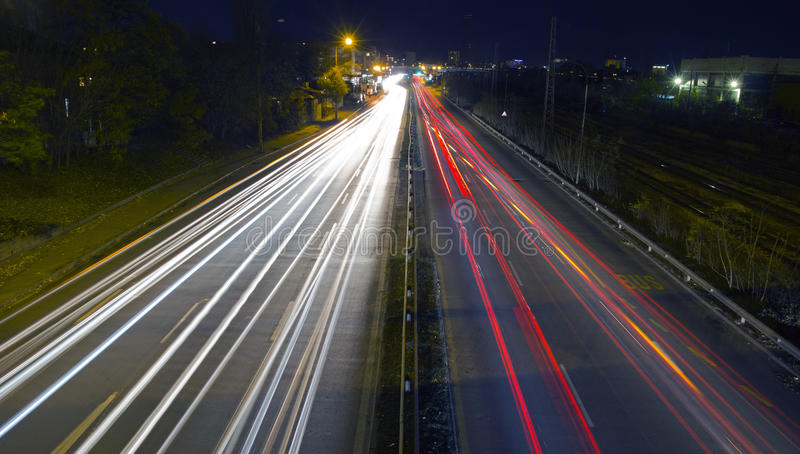 Download Night Traffic Lights Royalty Free Stock Images - Image: 16898069