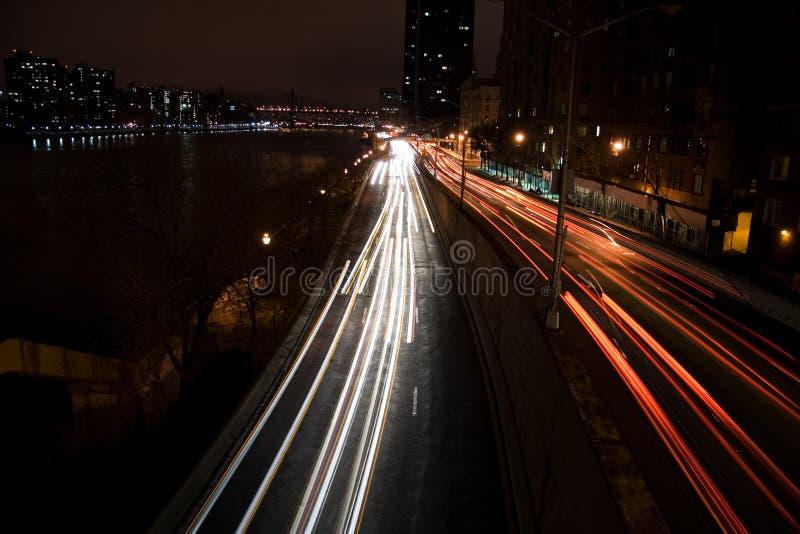 Night Traffic Urban Στοκ φωτογραφίες με δικαίωμα ελεύθερης χρήσης