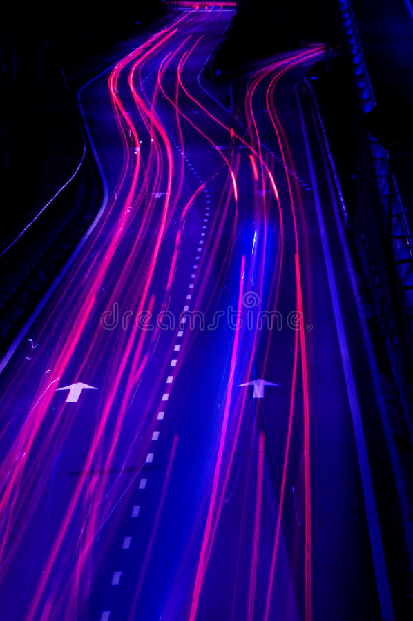 Night traffics royalty free stock photo