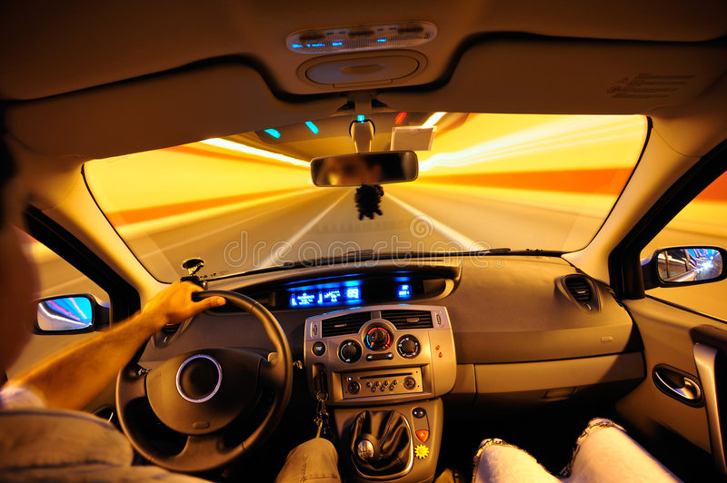 Night traveling royalty free stock photography