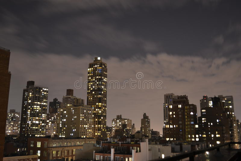 Night in the Upper East side royalty free stock photography