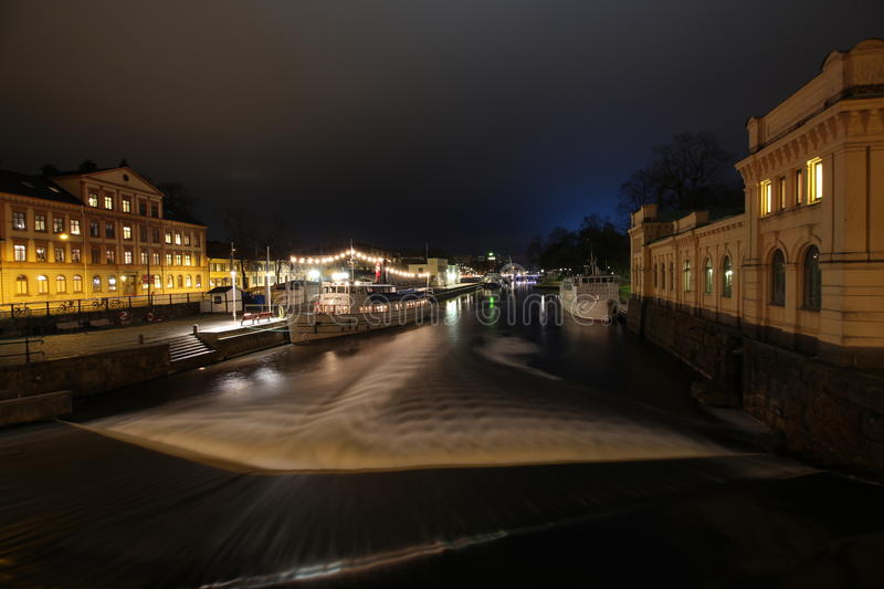 Night Uppsala stock photo