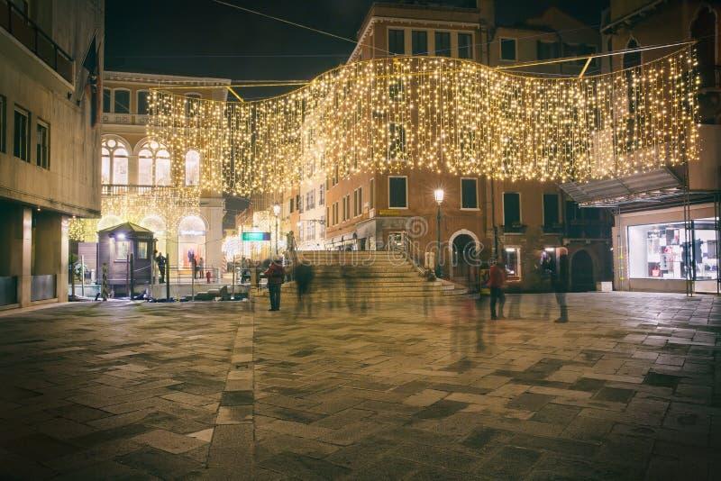Night in Venice, Italy royalty free stock photography
