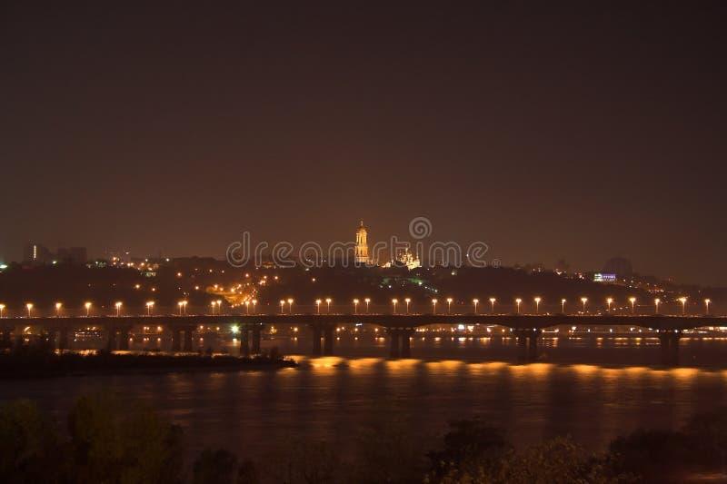 Night viev of Kiev stock photos