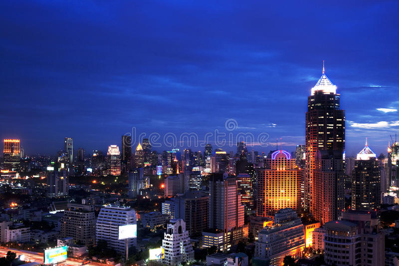 Download Night View Bangkok City Scape Editorial Photography - Image: 25370307
