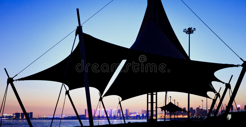 Download Night view of a beach stock image. Image of nature, backdrop - 23538349