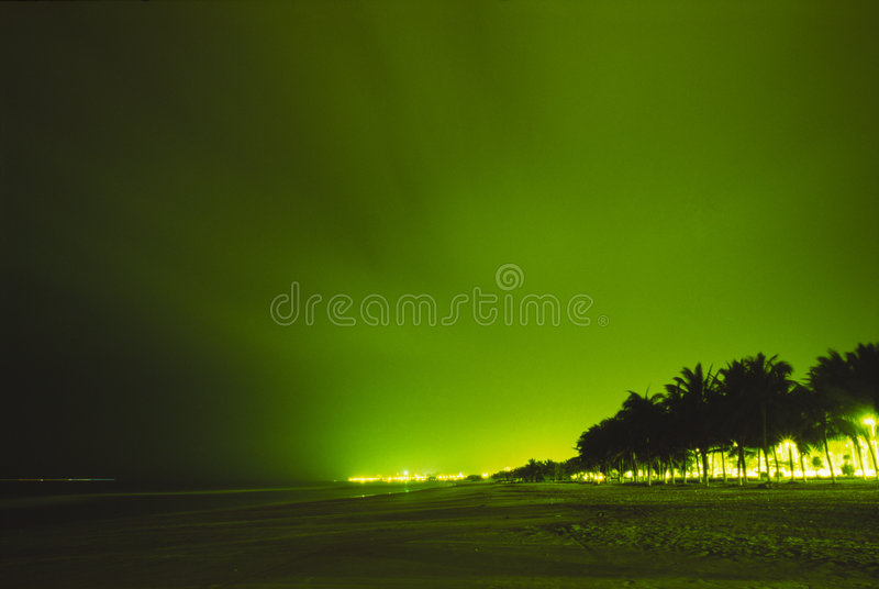 Download Night view of beach city stock image. Image of angle, dusk - 3782591