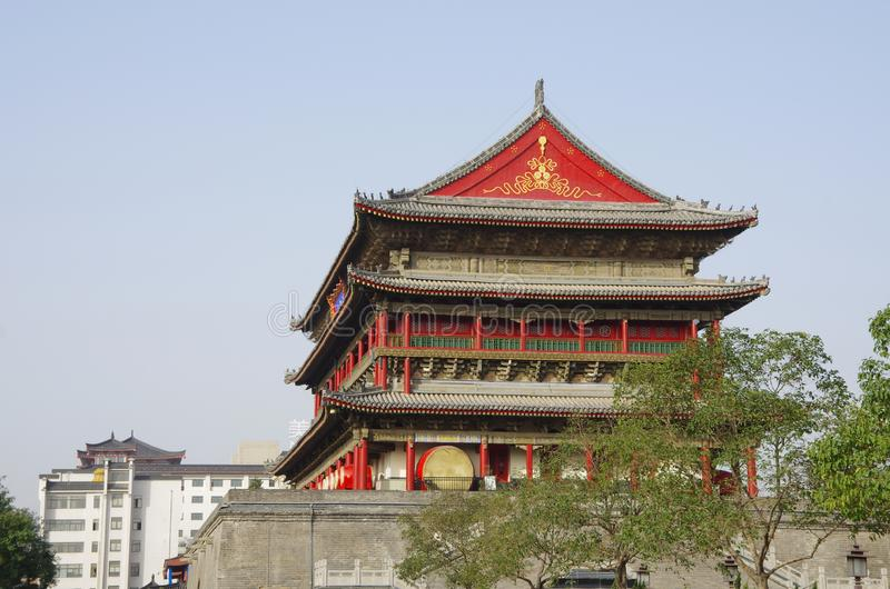 Xi `an bell tower and drum tower stock image